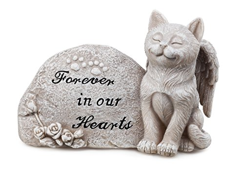 Cat Memorial Garden (Napco Small Cat Memorial Stone)