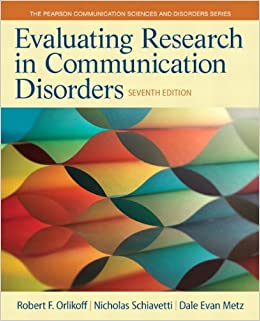 //TOP\\ Evaluating Research In Communication Disorders (7th Edition) (Pearson Communication Sciences And Disorders). traves Guante Nombre fooled Swimming Boutique estas about
