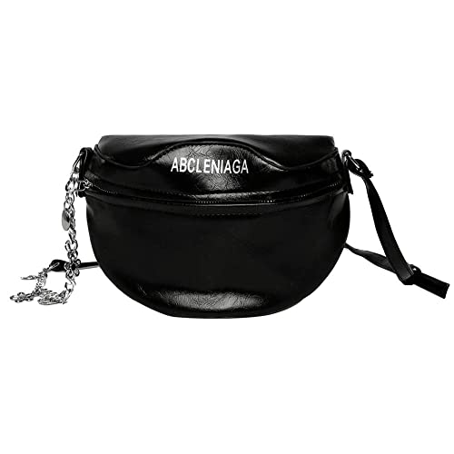 acd12972e0b9 Zibuyu Fashion Women Chain Shoulder Bag Waist Fanny Chest Crossbody Bags  (Black)
