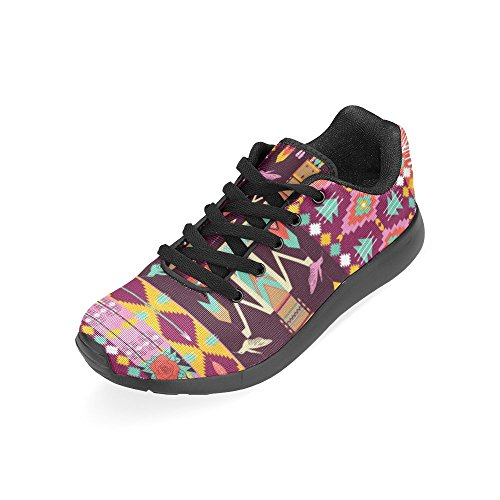 Interestprint Womens Väg Löparskor Jogging Lätta Sport Gå Atletiska Sneakers Etniska Stammar