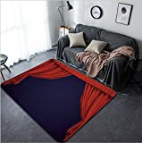 Vanfan Design Home Decorative 71062693 Theater curtain Presentation Movies Modern Non-Slip Doormats Carpet for Living Dining Room Bedroom Hallway Office Easy Clean Footcloth