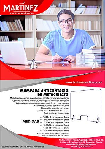 Mampara de protección en metacrilato para oficinas, mostradores y restaurantes (640x480x5mm): Amazon.es: Industria, empresas y ciencia