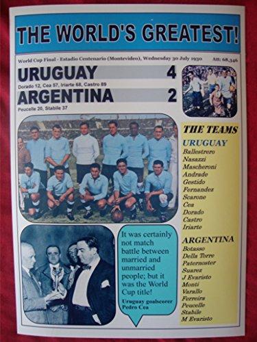Sports Prints UK Uruguay 4 Argentina 2-1930 World Cup Final - souvenir - Cup Uruguay 1930 World