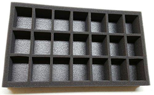 2in Figure Foam Tray Pre-Cut 21 Slot ()