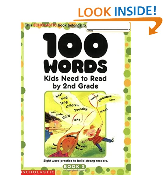 Books for 2nd grade amazon 100 words kids need to read by 2nd grade sight word practice to build strong readers fandeluxe Images
