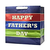 Hallmark Father's Day Grand Gift Bag (Happy Father's Day Metallic Stripes)
