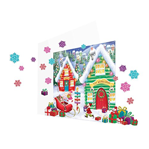 Amscan Winter Wonderland Christmas Party North Pole Mega \Value Scene Setters Wall Decorating Kit (pack of 32), Multicolor, One Size (Christmas Scene Setters Decorations)