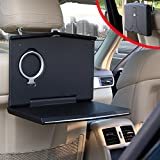 Vehicle Laptop Mount, Foldable Car Backseat Computer Stand for Kids Toy Bottles Storage On Truck Mobile Office Dining Drink Cup Holder Hanger
