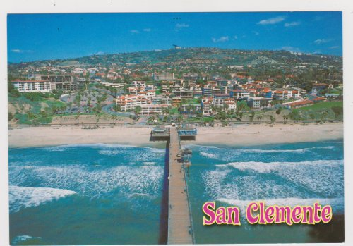 OC219 AERIAL VIEW OF SAN CLEMENTE, CALIFORNIA POSTCARD .. from Hibiscus Express