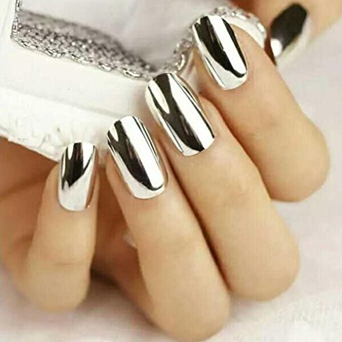 AutumnFall 5g/ Box Sliver Nail Glitter Powder Shinning Nail Mirror Powder Makeup Art DIY Chrome Pigment (Silver)