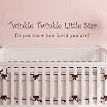 "Twinkle Twinkle Little Star, Do You Know How Loved You Are Vinyl Wall Decal - Child's Room Vinyl Wall Decal - Baby's Room Vinyl Wall Decal (46x8"""" Black)"