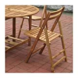 Folding Acacia Outdoor Dining Chairs–Set of 4 Review