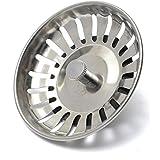 83mm Kitchen Sink Drainer Waste Strainer Leach Plugs Stopper Fits Most Modern Franke Sinks