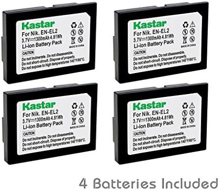 Kastar recargable (4-Pack) para Nikon EN-EL2 trabajo con Nikon ...