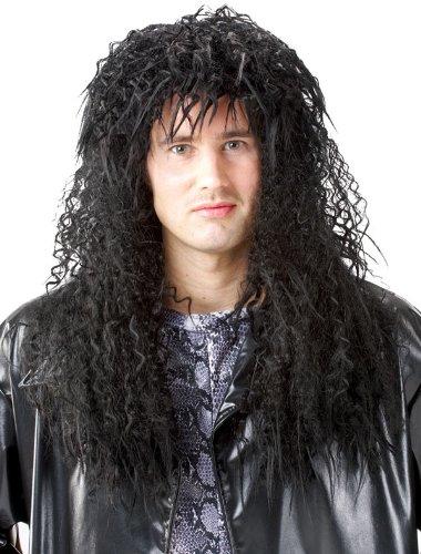 80's  (Black Headbanger Wig)