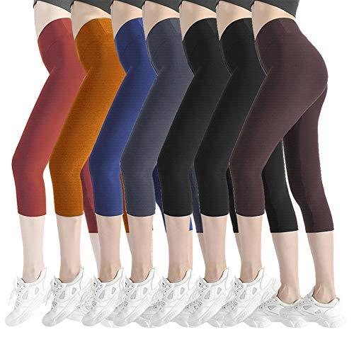 - Natural Feelings Soft Capri Leggings for Women High Waisted Tummy Control Opaque Slim Leggings One & Plus Size