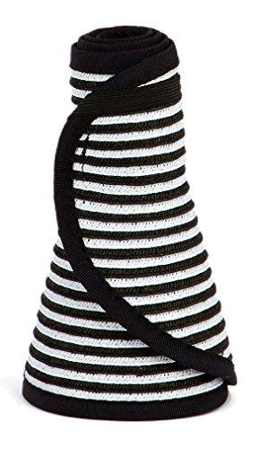 San Diego Hat Visor, Black/White, One -