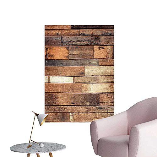 Wall Stickers for Living Room Planks Grungy Look Farm Country Style Walnut Oak Gra Image Vinyl Wall Stickers Print,12