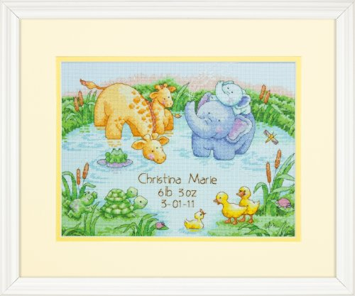 Dimensions Needlecrafts Counted Cross Stitch, Little Pond Birth Record