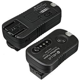 Vello FreeWave Fusion Wireless Flash Trigger & Remote Control for Sony SLR - Sony A100, A200, A290, A300, A320, A350, A380, A390, A500, A560, A580, A700, A850, A900, SLT A33, SLT A55, SLT A77, SLT A35, SLT A65 Minolta: 7D, 5D, 7i, 7, A1, A2