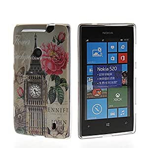 SHIDU Scenic Spot Style Soft Silicone Skin Slim Back Shell Case Cover For Nokia Lumia 520
