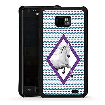 8b04defb801 Carcasa Samsung Galaxy S2 Unicornio Unicornio Unicorn, Hard Case black, Samsung  Galaxy S2 Plus
