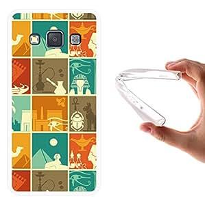 WoowCase - Funda Gel Flexible { Samsung Galaxy A3 } Grabados Egipcios Carcasa Case Silicona TPU Suave