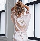 Satin Bride Robe - Wedding Day Robe - Glitter Bridal Robe - Bride Satin - Lingerie Shower Gift - Bride Robe - Blush Bride Robe