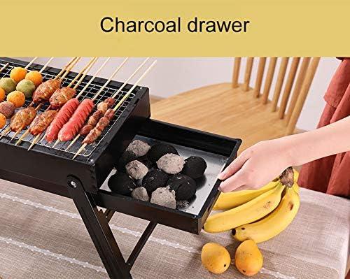 RUGU Grand Barbecue Barbecue Pliant Portable Charbon Camping en Plein air de Pique-Nique brûleur Pliable Charbon Camping Barbecue Four