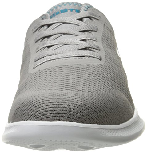Skechers Womens Aller Lite-persistence Sneaker Gris / Turquoise