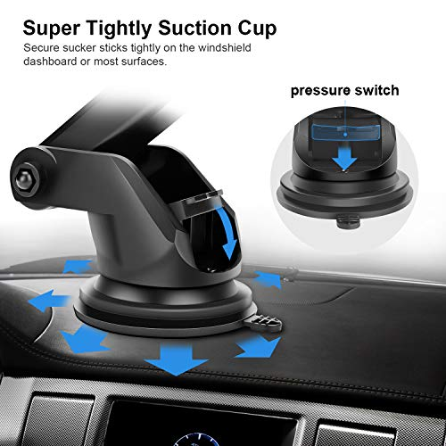 Automatic Clamping Qi Wireless Car Charger, SANCEON 10W/7.5W Fast Charger Car Mount Phone Holder for Air Vent Dashboard Compatible with iPhone Xs/Xs Max/XR/X/8/8Plus, Samsung Galaxy S10/S10+/S9/S9+/S8 by SANCEON (Image #3)