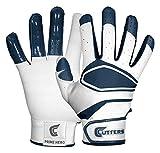 Cutters Gloves Men's Prime Hero Baseball Batting Glove, White/Navy, Large