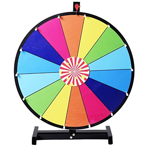 Quality Party Items - Prize Spinning Game Wheel of Fortune - 24'' Editable Dry Erase Color - Tabletop Tradeshow Accessories - Ideal for Business and House Party by QualityPartyItems