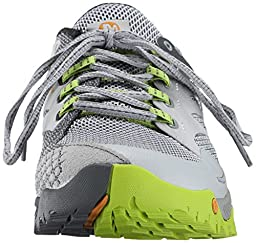 Merrell Men\'s All Out Charge Trail Running Shoe, Grey/Lime Green, 12 M US