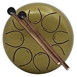XuBa 5 Inch Mini Size Drum with Mallets Storage Bag for Children Instrument Gold