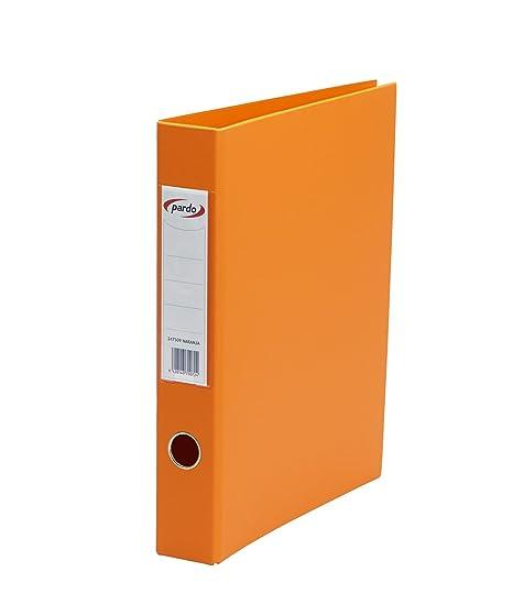 Pardo 247509 - Archivador plástico, anilla 2/40, tamaño folio, color naranja