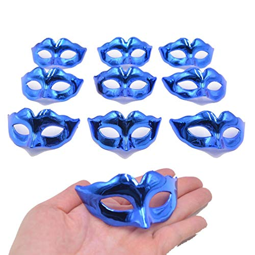 Yiseng Mini Masquerade Mask Party Decoration 10pcs Set Supper Small Masks Mardi Gras Halloween Party Decor Novelty Gifts Favors for Kids
