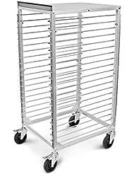 New Star Foodservice 42979 Commercial Sheet Pan Rack Aluminum Backsplash Top 20 Tier 26 X 20 X 49 Inch