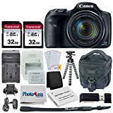 Canon PowerShot SX540 HS Digital Camera + 2x 32GB Memory Card + Camera Bag + Flexible Tripod + Replacement Battery & Travel Charger + USB Card Reader + Screen Protectors + Cleaning Cloth + Accessories