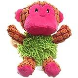 IFOYO Dog Plush Toy, Pet Dog Toy Tough Dog Squeaky Toy Cute Dog Teething Toy Medium Small Dogs, Monkey