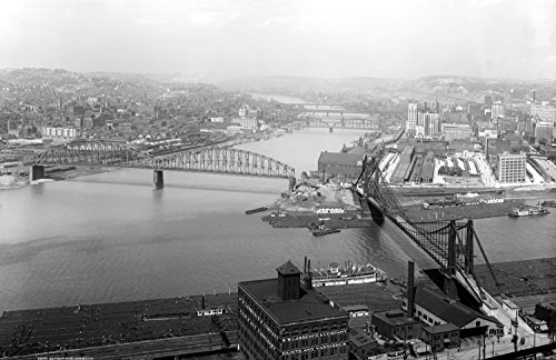 1910-1920 The Point, Pittsburgh, Pennsylvania Vintage Photograph 11