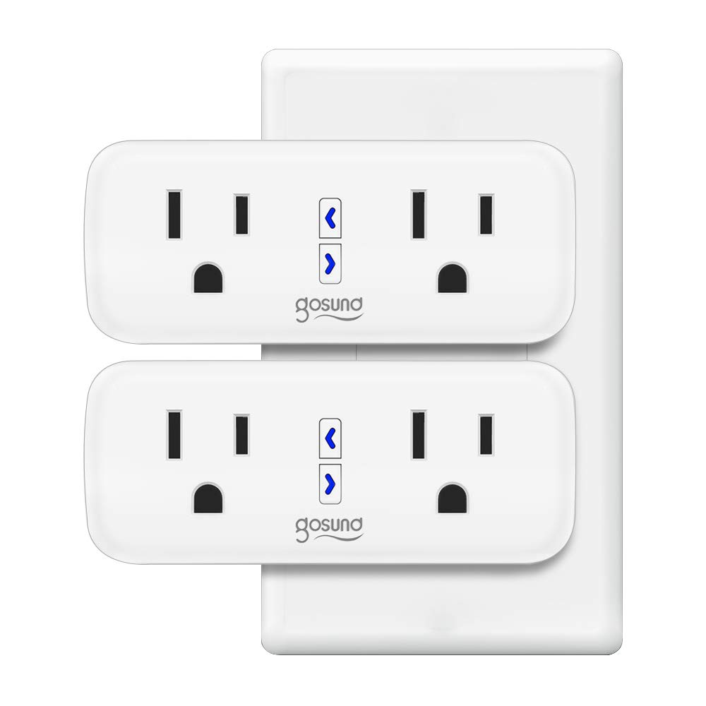 Smart Plug Gosund WiFi Dual Extender Outlet Compatible with Alexa Google Assistant, Mini 2 in 1 Smart Socket with Remote Control Individually, No Hub Required, FCC and ETL Listed 2 pack