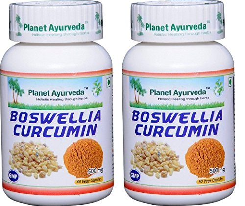 Boswellia Curcumin - 2 bottles (each 60 capsules, 500mg) - Planet Ayurveda in USA by Planet Ayurveda