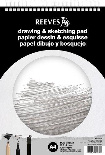 REEVES 8490653 Block Skizzen und Zeichnen Spirale A4