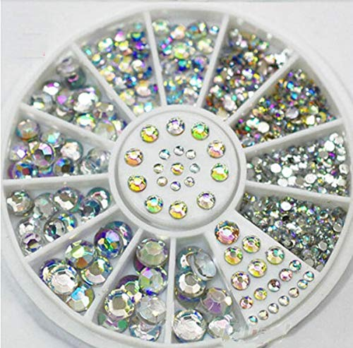 1 Wheel 3D Diamonds Shapes 1.5Mm/2Mm/3Mm/4Mm Nail Art Decorations Thin Patch Stickers Nail Art Studs DIY Rhinestones Tools by DKjiaoso