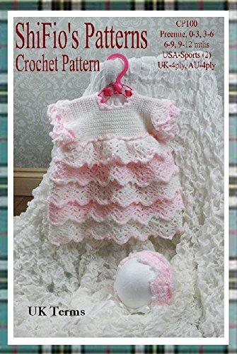 Amazon Crochet Pattern Cp100 Baby Dress And Hat Preemie