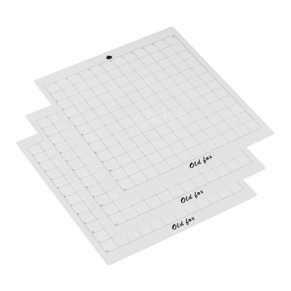 1212 8 PP Transparent Ersatz-Schneidematte Clear Adhesive Grid f/ür Silhouette Cameo AimdonR 12