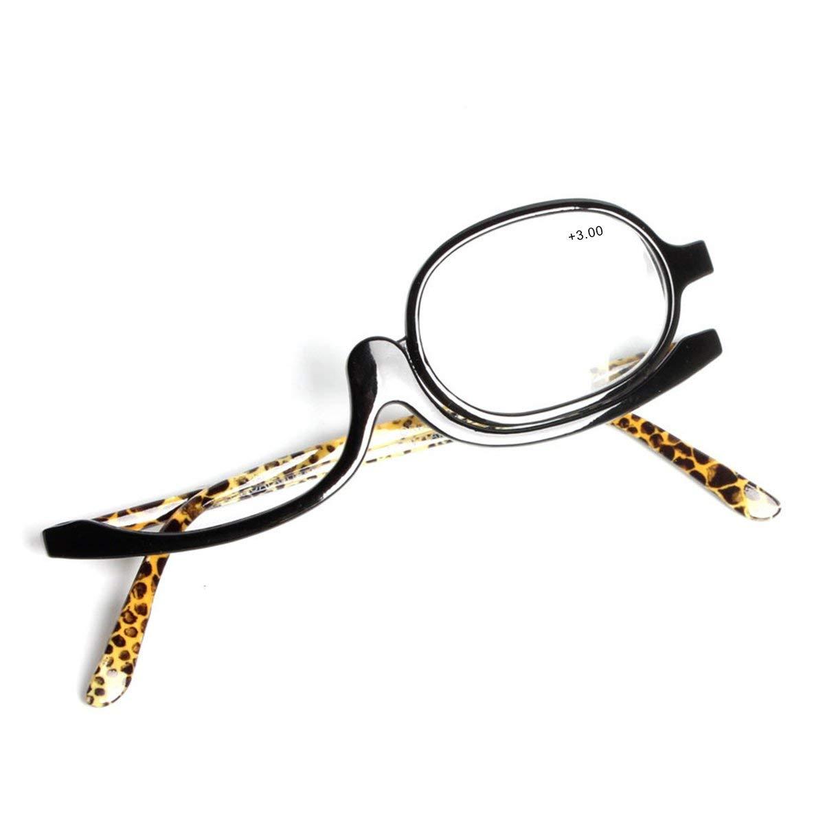 Noradtjcca Occhiali da Lettura Monoculari rotanti da 180 Gradi Occhiali da Lettura per Il Trucco Occhiali da Sole Portatili Singoli Lenes Femmine