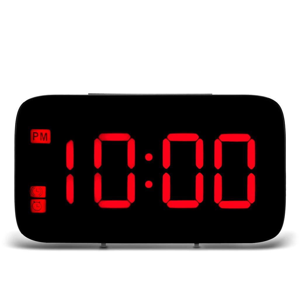 OHTOP Digital Alarm Clock, Large LED Display Night Backlight Desktop Clocks for Table Desk by OHTOP