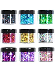 Body Glitter Wenida 9 Colors 190g Holographic Cosmetic Festival Makeup Chunky Powder for Nail Hair Eye Face
